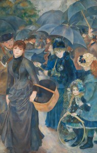 Pierre-Auguste Renoir, 1841 - 1919 The Umbrellas about 1881-6 Oil on canvas, 180.3 x 114.9 cm Sir Hugh Lane Bequest, 1917 NG3268 http://www.nationalgallery.org.uk/paintings/NG3268
