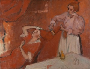 Hilaire-Germain-Edgar Degas, 1834 - 1917 Combing the Hair ('La Coiffure') about 1896 Oil on canvas, 114.3 x 146.7 cm Bought (Knapping Fund), 1937 NG4865 http://www.nationalgallery.org.uk/paintings/NG4865